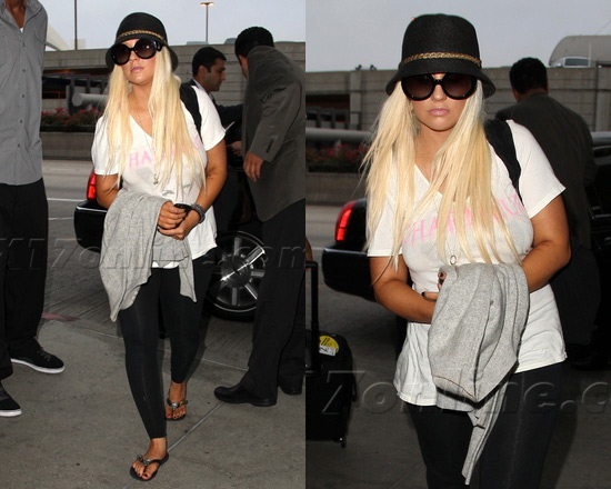 Prada Round Baroque Sunglasses  christina aguilera wearing prada baroque round sunglasses at lax