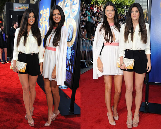 Kendall And Kylie Jenner At Glee Premiere