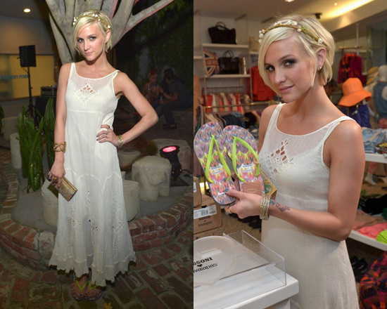 Ashlee Simpson in Limited Edition Free People Beach Bride Dress ...