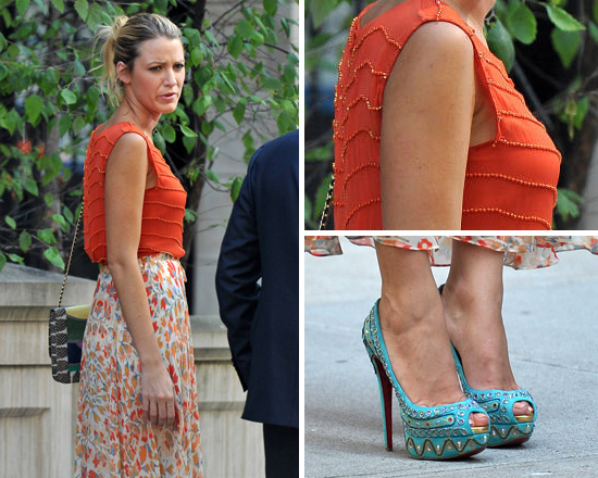 db82d9ea98e ... netherlands blake lively wears christian louboutin bollywoody suede  pumps 804fe 88917