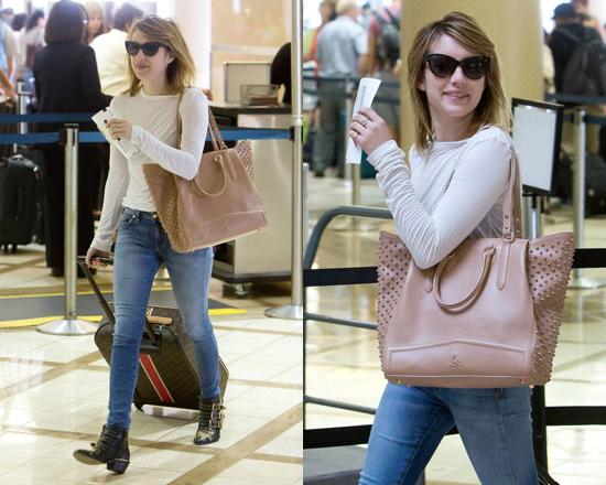 Emma Roberts wearing Chloé Susanna Studded Buckle Boots ... 0685a71a6893