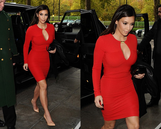 Kim kardashian gold bar dress