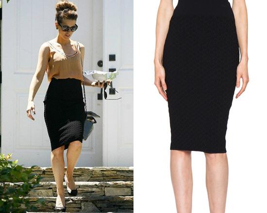 17628051626 Kate Beckinsale steps out in Alexander McQueen Honeycomb Pencil Skirt