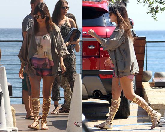 32bc48e65c8563 Kourtney Kardashian wearing Lovers + Friends Stars Billowy Tank and  Woodstock Shorts