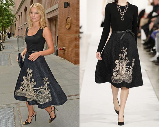 Oscar de la Renta embroidered skirt Buy Cheap Clearance Store 7cNBIe4hZB