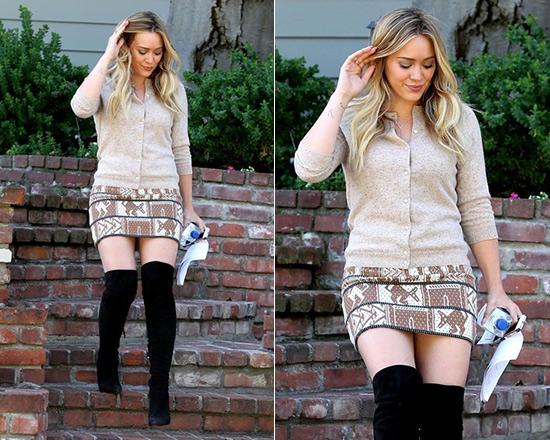 c253bfb14c23fc 50% OFF SUNO Animal Jacquard Skirt as seen on Hilary Duff ...