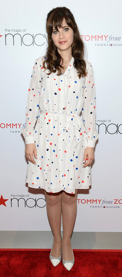 Zooey Deschanel for Tommy Hilfiger Polka-Dot Printed Shirtdress