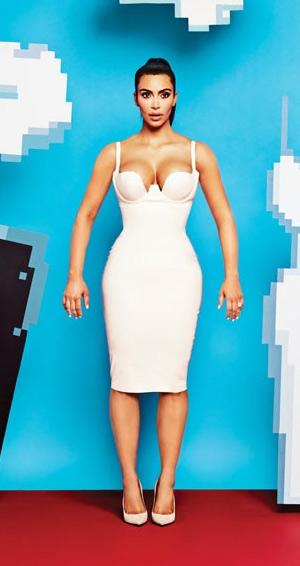 Kim Kardashian in Atsuko Kudo Latex Mini Dress for Adweek magazine 2015
