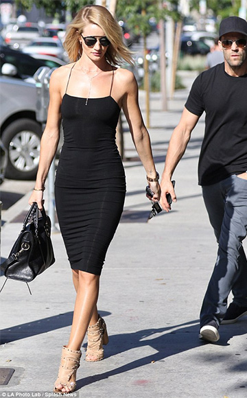 415594b5a5a Rosie Huntington-Whiteley spotted in T by Alexander Wang Strappy Stretch  Midi Dress, Dior