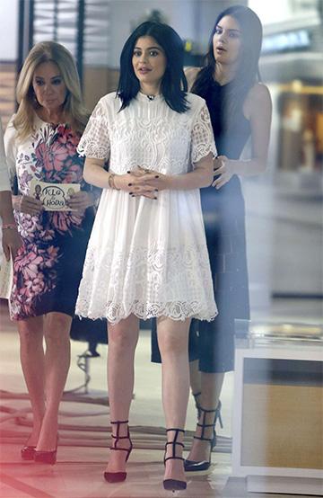 0bdf44ef2cb1f Kendall + Kylie Lace Babydoll Dress – CelebrityFashionista.com