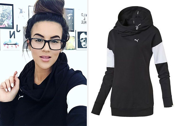 Puma Style Swagger Hoodie as seen on Nicole Guerriero