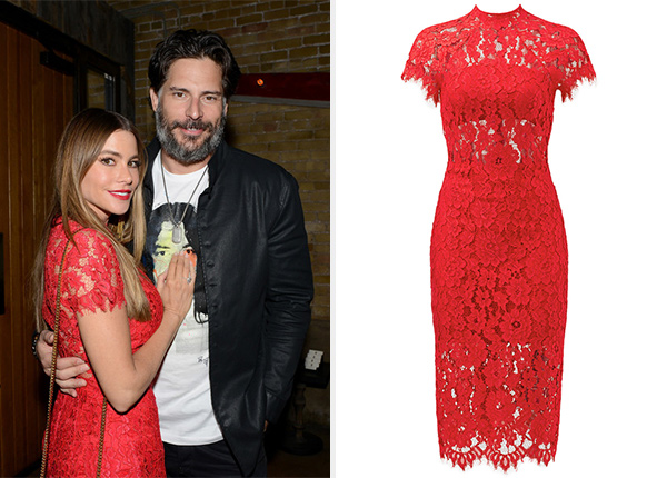 7f682478ece Sofia Vergara s Alexis Red Lace Leona Dress – CelebrityFashionista.com