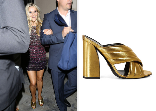 600c822001 Reese Witherspoon's 40th Birthday Party Gucci Metallic Crossover ...