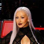 House of CB Sana Bandage And Sheer Mesh Maxi Dress as seen on Christina Xtina Aguilera on The Voice
