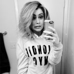 Junk Food Blondie NYC Light Heather Gray Sweater as seen on Kinsey Schofield Instagram.