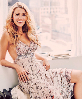 Etro Floral-print Silk-chiffon Gown as seen on Blake Lively, photoshoot, June 2016.