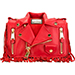 Moschino Red Biker Jacket Crossbody Bag