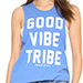 Spiritual Gangster Good Vibe Tribe Rocker Tank in Ultramarine