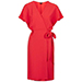 Topshop Belted Wrap Dress in Bright Coral
