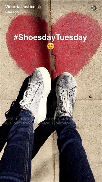 Victoria Justice Snapchat: Ash Cult Crackled Platform Sneakers