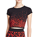 WOW Couture Short Sleeve Printed Crop Top