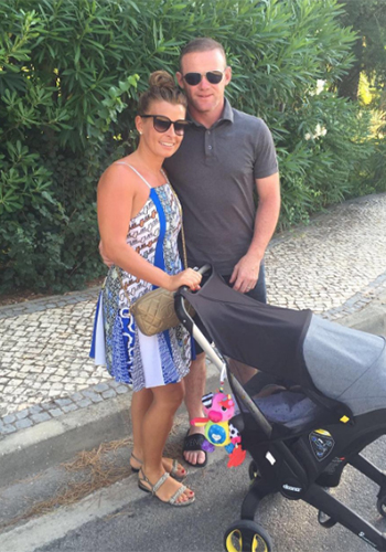 Kenzo Multi Pattern Slip Dress as seen on Coleen Rooney Instagram - July 2016.
