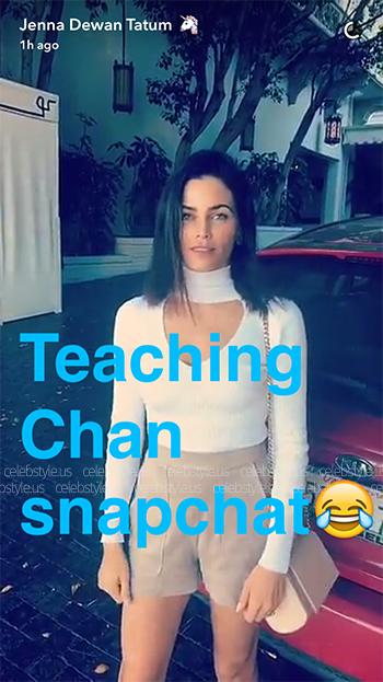 Seen on Jenna Dewan-Tatum Snapchat: Cushnie et Ochs High Neck Cut-Out Bodysuit