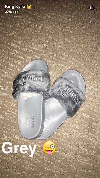 timeless design f8197 10de2 Fenty By Puma Leadcat Faux Fur Slide Sandals ...