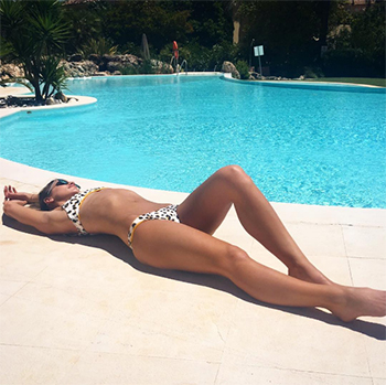 Vogue Williams Instagram - Suboo Sandy Leopard Bikini