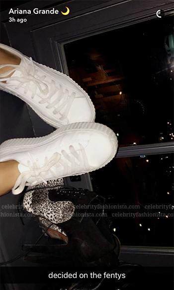 Ariana Grande Snapchat: Puma x Rihanna Fenty Creeper Sneakers