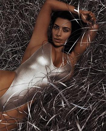 Kim Kardashian West by Mert & Marcus: Kai Lani V One Piece Swimsuit