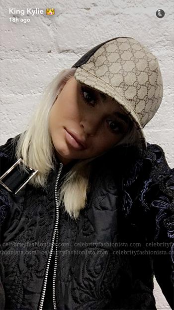 Kylie Jenner Snapchat: Gucci GG Supreme Baseball Hat (September 19, 2016)