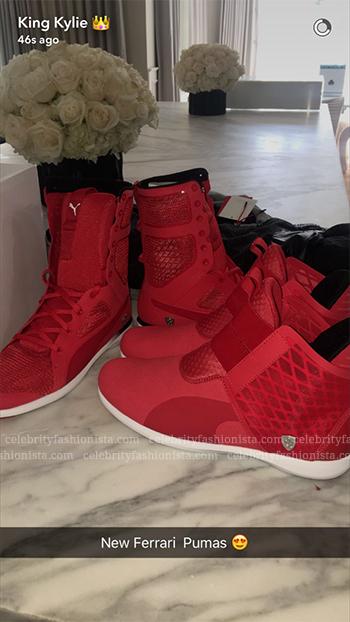 Kylie Jenner Snapchat: Puma x Ferrari High Boot + Ankle Boot SF