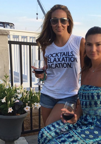 Melissa Gorga Instagram: Chaser Cocktails Vacation Relaxation Tank
