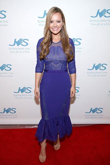 Nicole Lapin JVSLA 85th Anniversary Gala: Three Floor Seductive Blue Dress