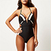 River Island colour block plunge swimsuit