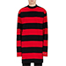 Vetements 'Time is Money' Red Striped Top