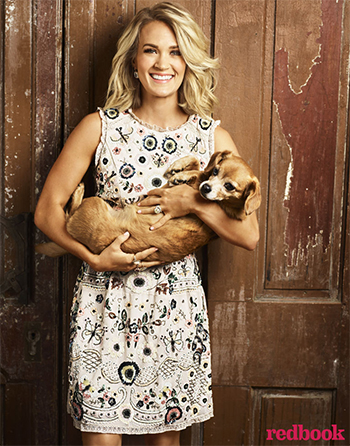 Carrie Underwood Redbook Magazine November 2016, Needle & Thread Butterfly Rose Beige Prom Dress