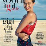 Gigi Hadid Vogue It Girl Cover: Altuzarra Sequined Colour Block Dress