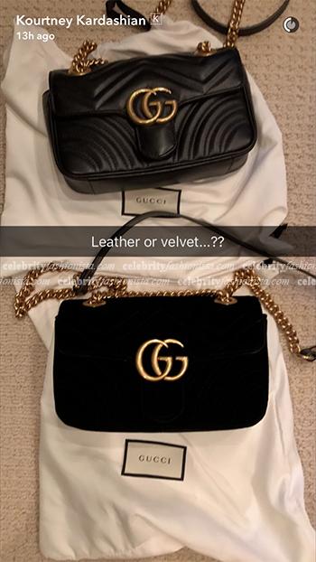 a800ca16b2ee Kourtney Kardashian Snapchat: Gucci GG Marmont Matelassé Mini Bags ...