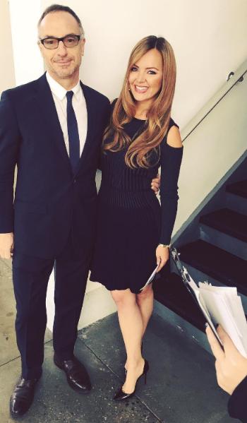 Nicole Lapin Instagram: Versace Cold Shoulder Knit Dress