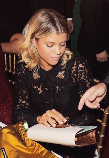 Sofia Richie: Dolce & Gabbana Embroidered Lace A-Line Minidress