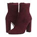 Steve Madden Edit Suede Booties, Burgundy
