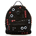 Versace Grommet Embellished Suede Backpack