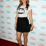 Camilla Luddington in a Saint Laurent Blood Luster Tee and Rag & Bone shorts at the Raising The Bar To End Parkinson's event July 27, 2016
