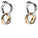 Alexander Wang Mixed Rhodium And Yellow Gold Links Earrings