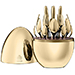 Christofle 24 Carat Gold Mood Cutlery Egg