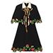 Gucci Embroidered Cape Dress