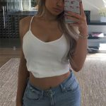 Kylie Jenner Instagram: Topshop Tall Ribbed Crop Cami