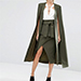 Lavish Alice Maxi Belted Cape Blazer